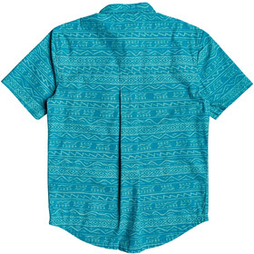 Quiksilver Heritage SS Shirt Men pagoda blue tonal heritage